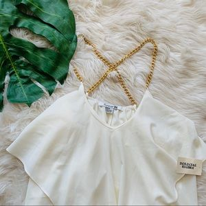Forever 21 - cream cami with gold cross straps